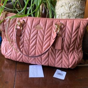 Authentic Coach Quilted leather satchel/Crosby 🌸